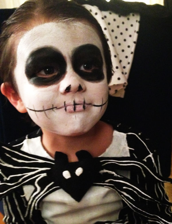 Easy Jack Skellington DIY costume for Halloween!